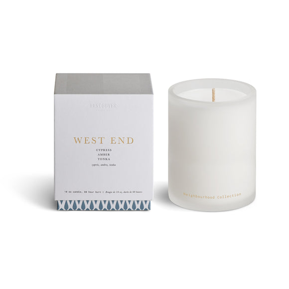 VANCOUVER CANDLE CO WEST END 10 OZ