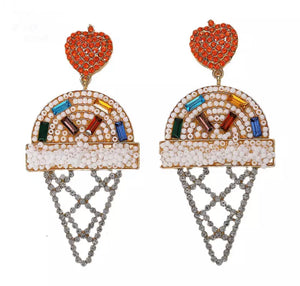 Ice cream earring - white