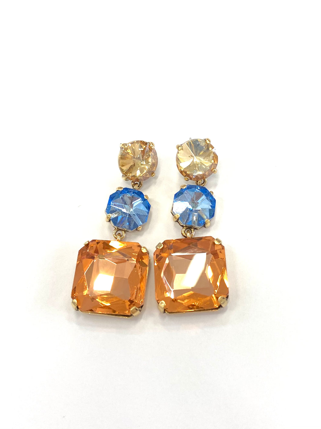Blush and Blue Gem Earring