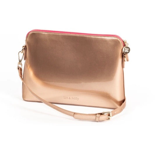 Rose Gold Cross Body Bag