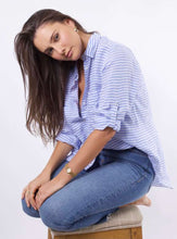 Hut Blue Stripe Linen Top