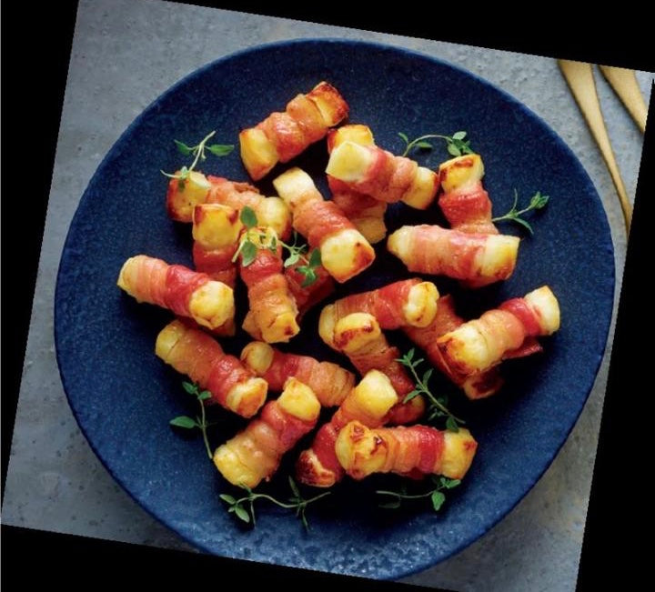 Halloumi Wrapped in Smoked Streaky Bacon