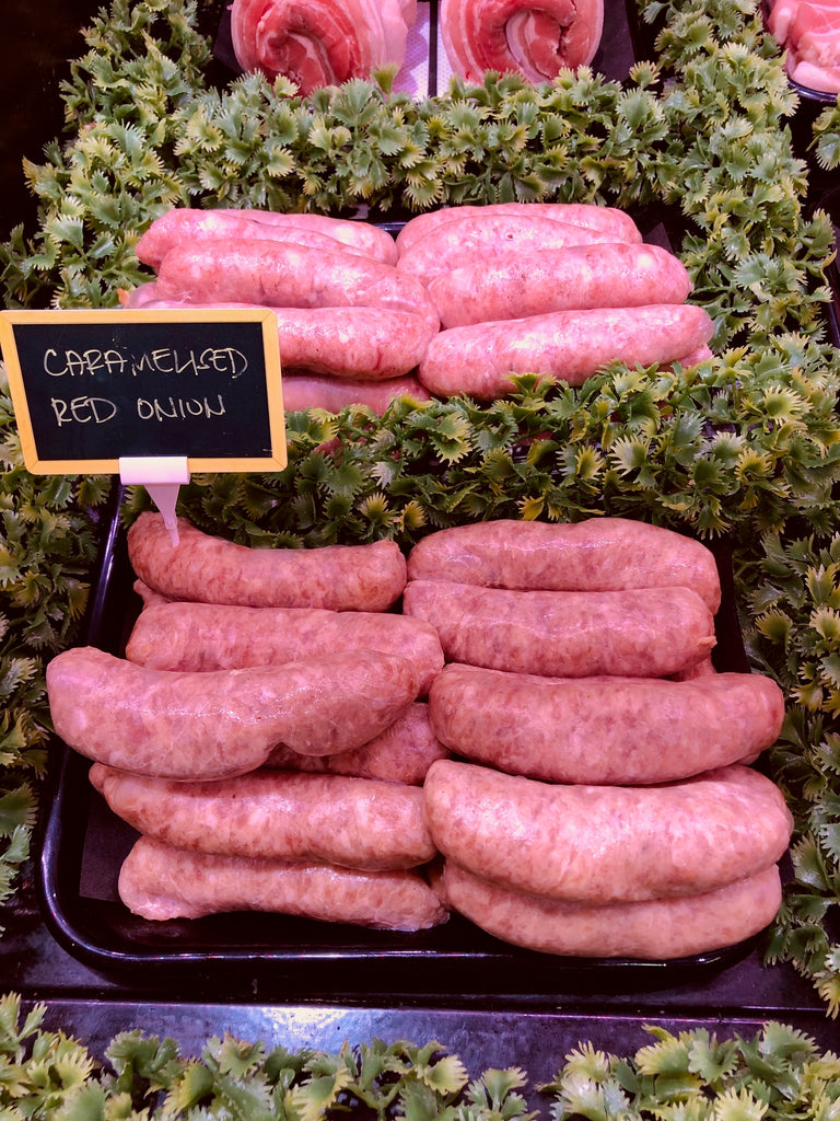 Outdoor Reared Suffolk Pork - Caramelised Red Onion Sausages