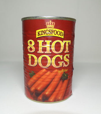 KINGSFOOD HOT DOG SAUSAGES 8'S 184g