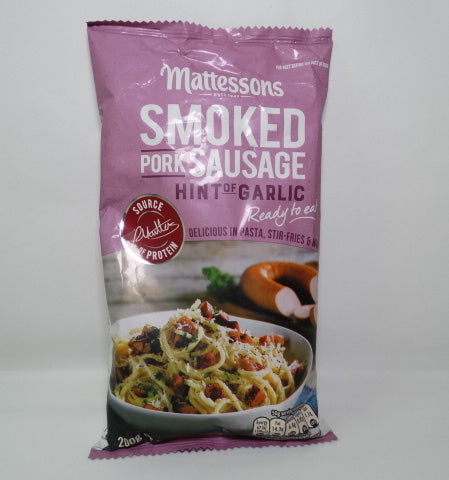 MATTESSONS SMOKED PORK SAUSAGE WITH GARLIC 200g