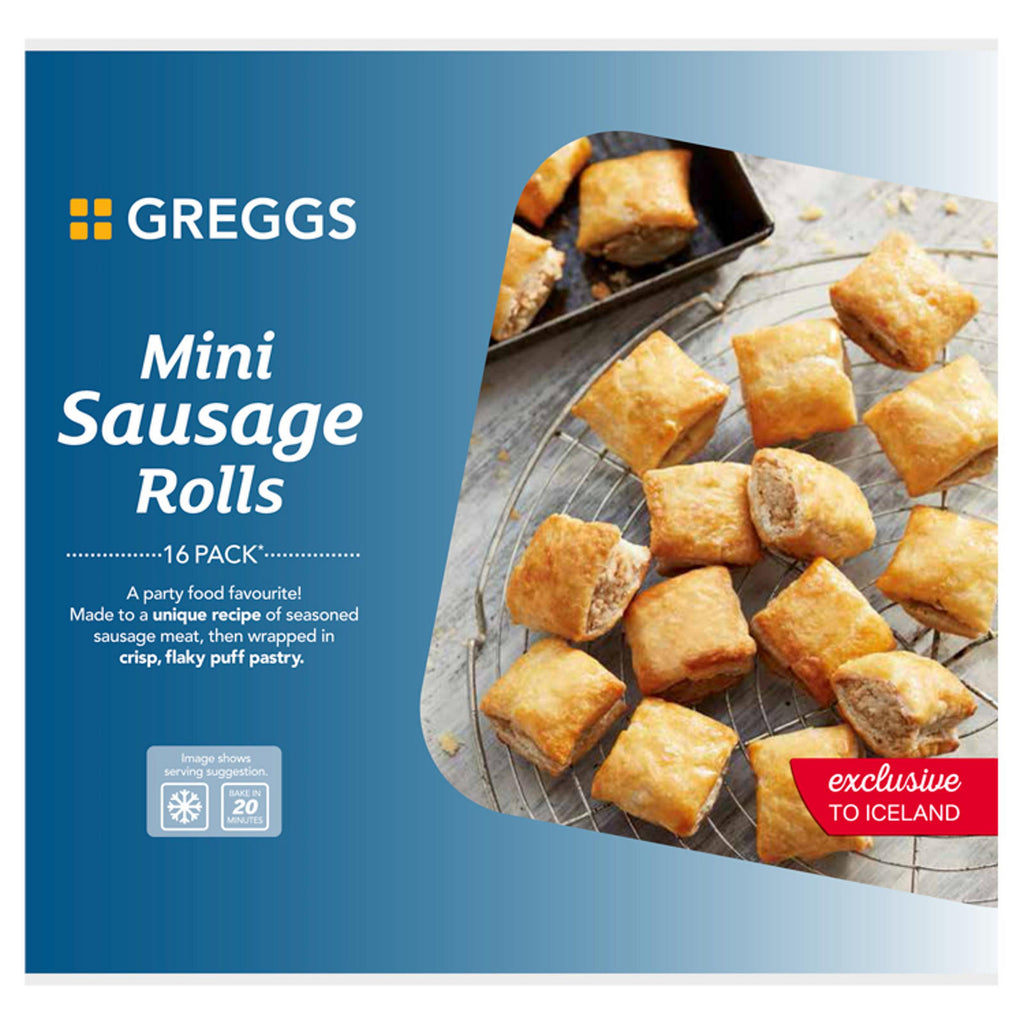 GREGGS 16 PIECE MINI SAUSAGE ROLL 433g