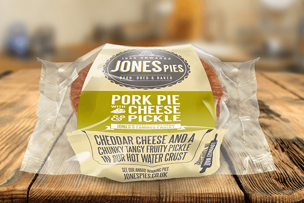 Pork Pie with Cheese & Pickle x 2 - Cooked & Ready To Eat