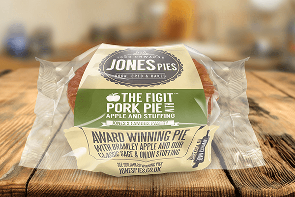Figet Pork Pie with Apple & Stuffing x 2 - Frozen & Uncooked