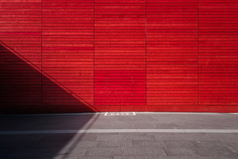 large red wall