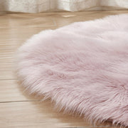 Fluffy Round Faux Fur Rug