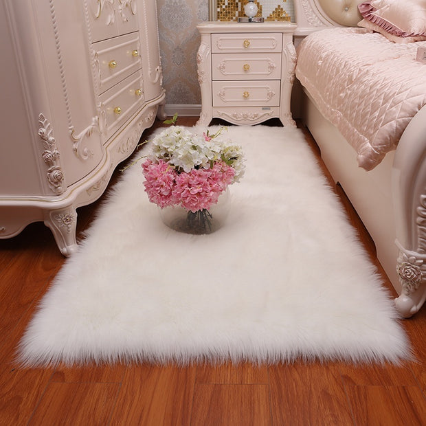 Super Soft Faux  Sheepskin Fur Carpet