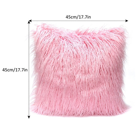 Chic Fuzzy Faux Fur Warm Cozy Throw Pillow Cases
