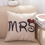 Knitted Mr & Mrs Cushion Case