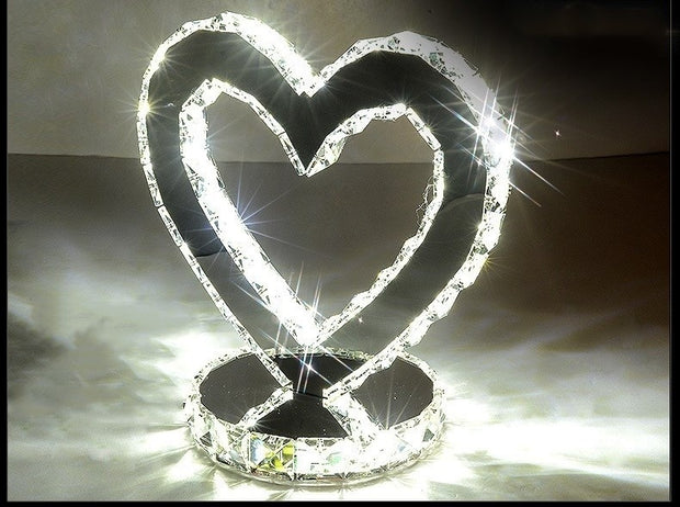 Crystal Heart shaped Led Lamp