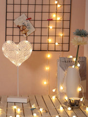 10pcs Bulbs Heart Shaped Table Lamp