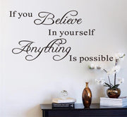 Believe In Yourself Inspirational Quote Wall Art