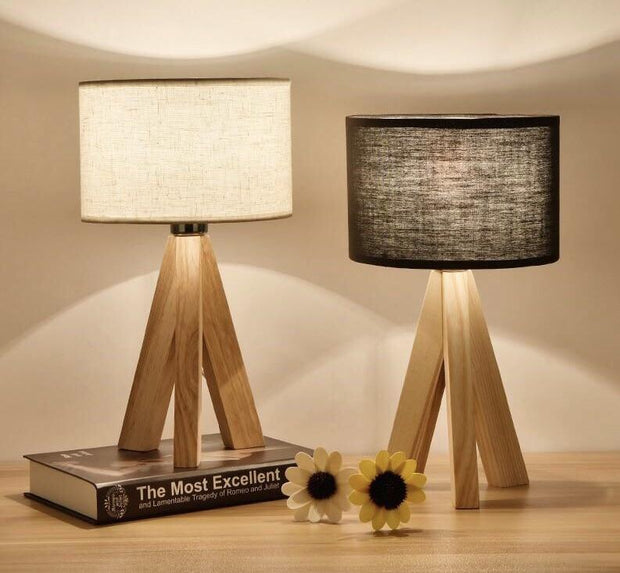 P&B Modern Wooden Table Lamp