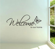 Welcome To Our Home'Text Patterns Wall Stickers