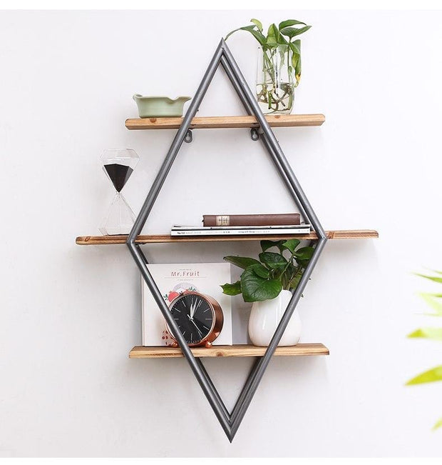 Iron Mural Wall Partition Bookcase Rack