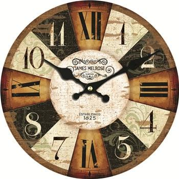 Bamboo Colourful Classic Retro Wall Clock