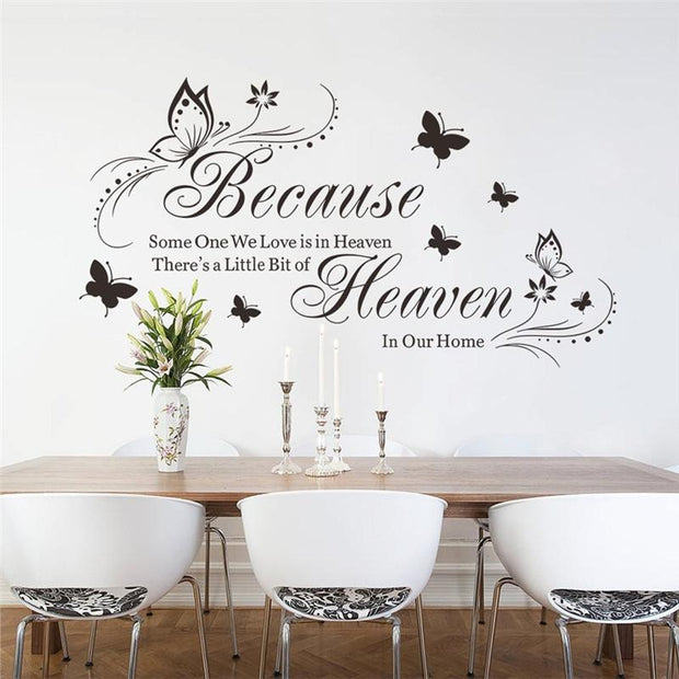 Because Someone We Love Is In Heaven Removable Wall Sticker