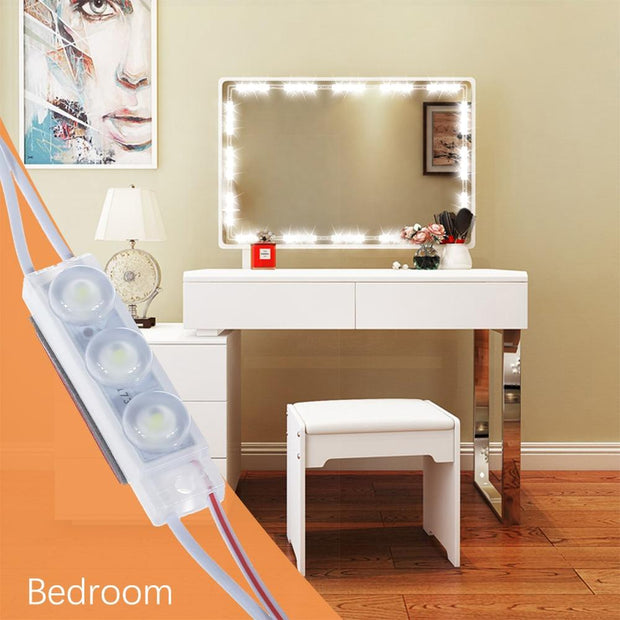 Energy Saving DIY Hollywood Style LED Mirror Light with Touch Dimmer and Power Supply