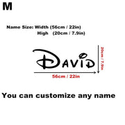 Customised Personalised Name Children Home Decor Removable Wall Sticker