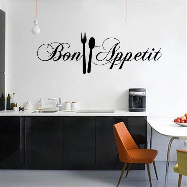 DIY Knife And Fork Removable Wall Decal Sticker 58*18CM