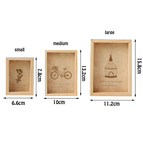 Wooden Mini Vintage Pictures Frames