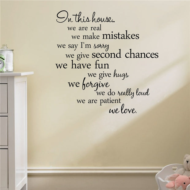 P&B Family We Love Wall Sticker