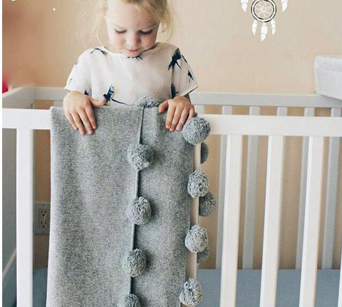 Soft Woollen Cartoon Knitted Baby/Toddler Swaddle Blanket