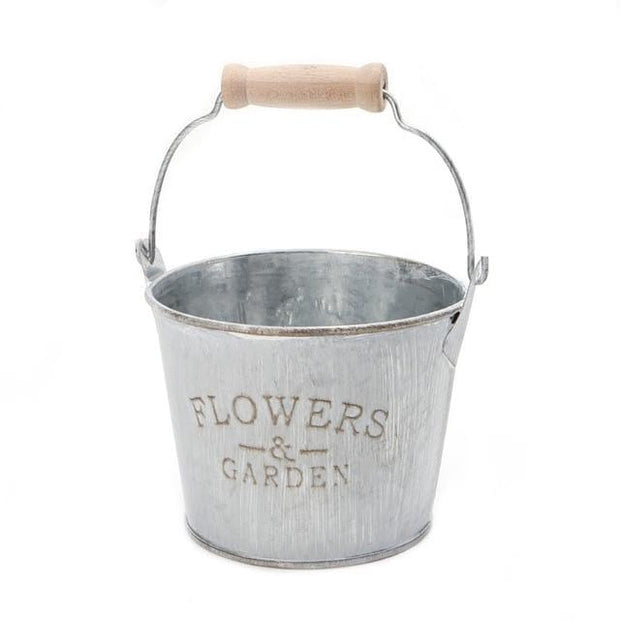 Creative Vintage Galvanised Metal Iron Flower Garden Shabby Vase Pot