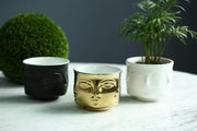 Pot Planters Ceramic Man Face Flower Vase