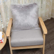 Cilected Pure White/Grey One Side Faux Fur Cushion Cover Or Heart Cushion - Perks and Bliss