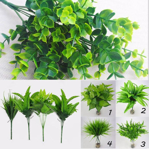 Mini Artificial Green Leaves Plants