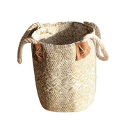 Fold-able Natural Woven Sea-grass Belly Storage Basket