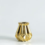 Modern European Gold Matt Diamond Porcelain Vase