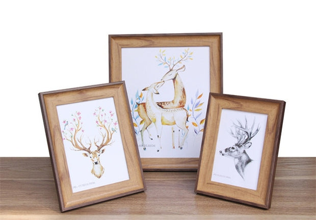Modern Imitation Wood Photo Frame