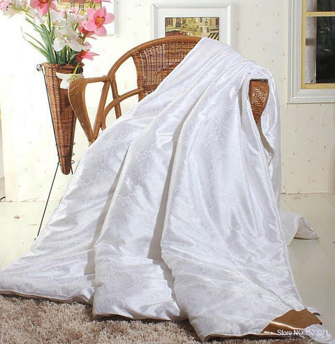 P&B 100% Mulberry Silk Embroidered Throw Blanket