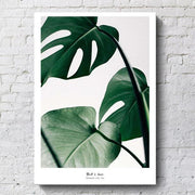 Nordic Leaf, Life Quote Posters And Prints Canvas