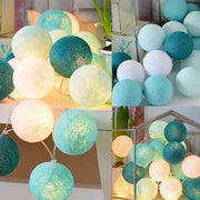 20 LED Cotton Ball String Lights