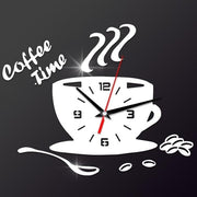 Modern 3D DIY Acrylic Wall  Coffee Time Clock