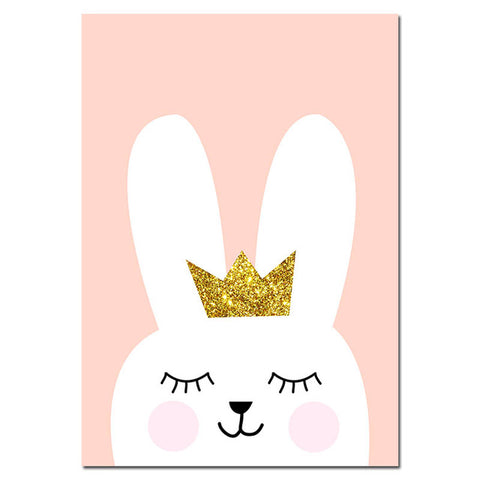 Baby Nursery Cartoon Bunny  Canvas