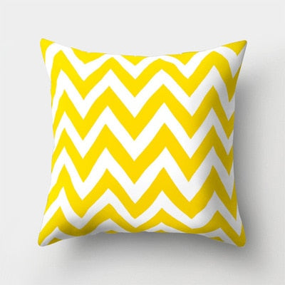 Yellow Soft Cushion Cover