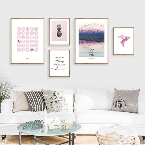 R&B Modern Nordic Style Printed Canvas