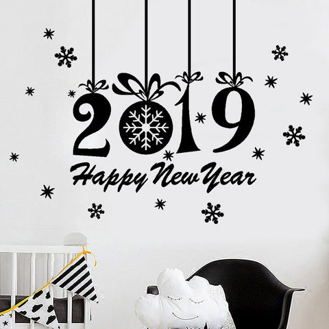 P&B Happy New Year Wall Sticker