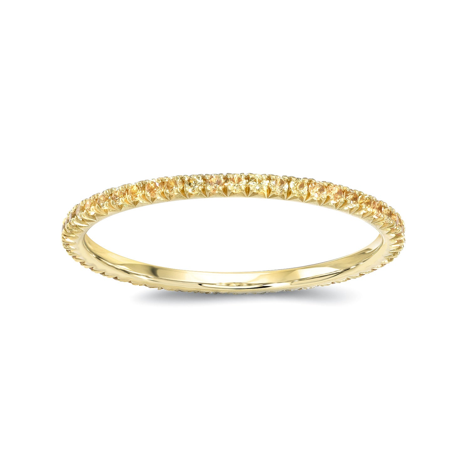Yellow Sapphires Eternity Band