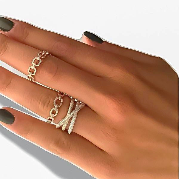 Chain of Love Ring - Oval
