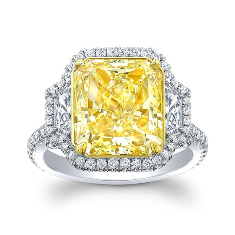 6.24 Fancy Light Yellow Diamond Ring - Mizrahi Diamonds