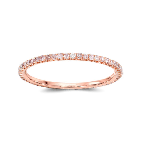 Round Pink Diamond Eternity Band